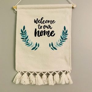 Other - welcome to our home door hang - like new!